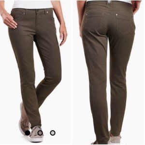 "KUHL ""Brooke"" Hiking Stretch Skinny Pants Green 6"